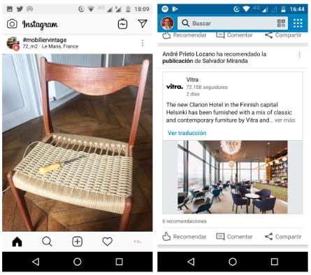 muebles en redes sociales